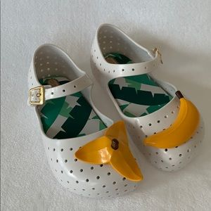 Mini Melissa Banana Shoes NEW!
